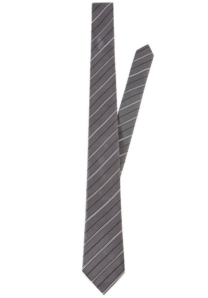 PIERRE CARDIN Seiden-Krawatte in grau