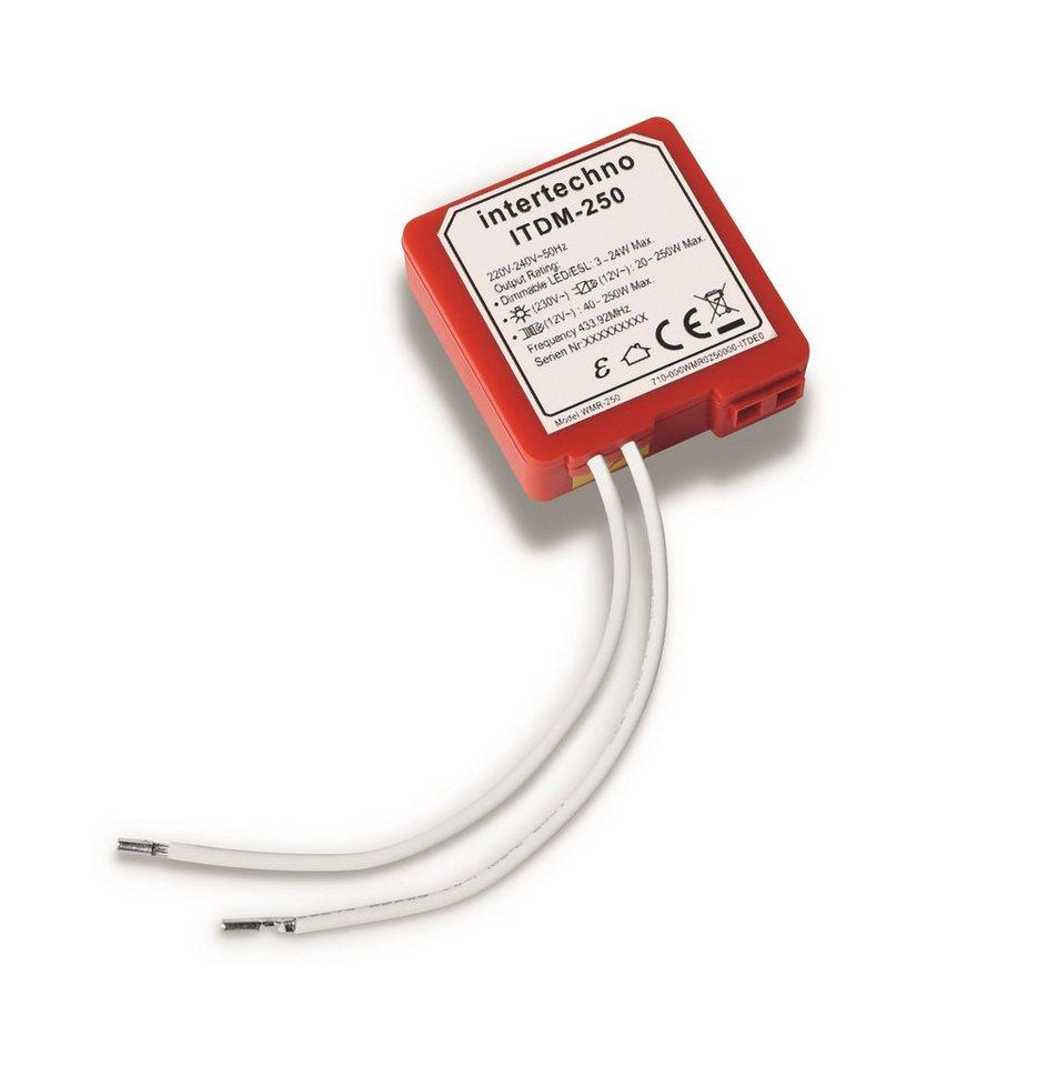 intertechno - Smart Home - Licht & Komfort »ITDM-250 Funk-Universaldimmer« in rot
