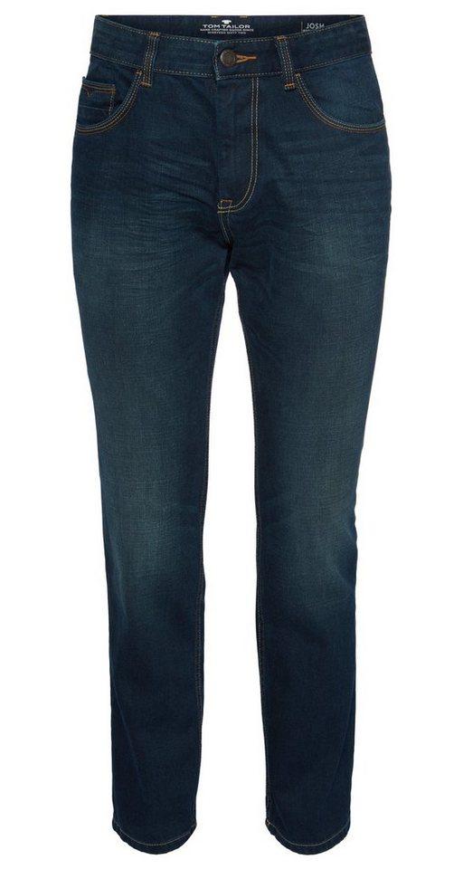 TOM TAILOR Jeans »Josh regular slim« in blue denim green cas