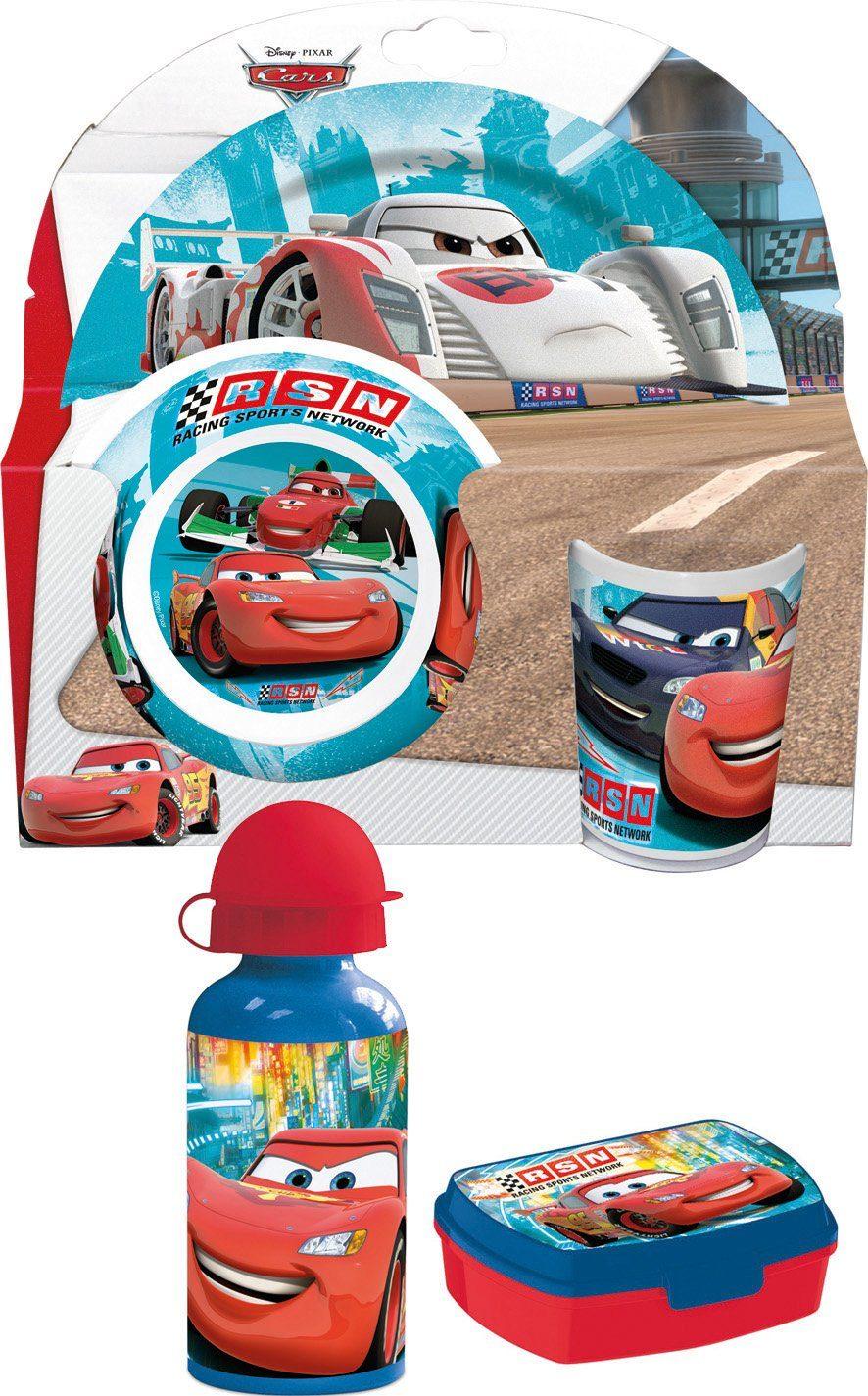 p:os Kindergeschirrset mit Trinkflasche und Brotdose, »Disney Pixar Cars Frühstückspaket Promo«