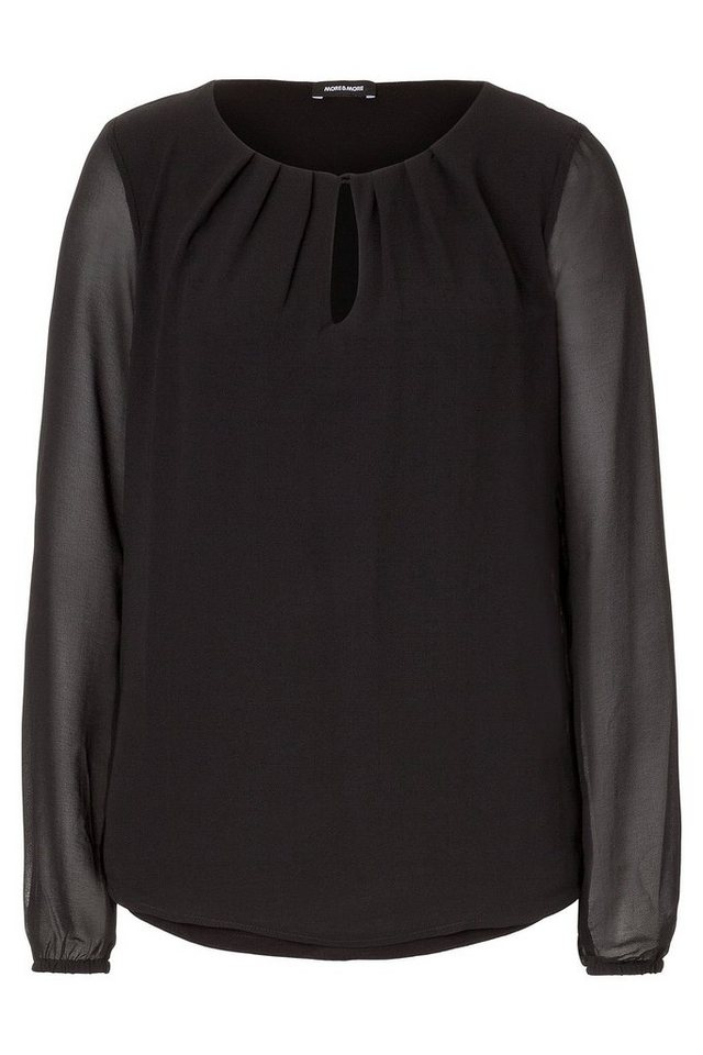 MORE&MORE Chiffonbluse in schwarz