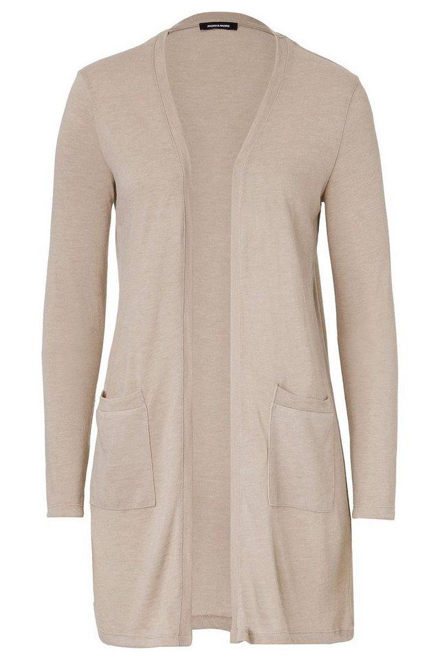 MORE&MORE lange Shirt-Jacke in beige