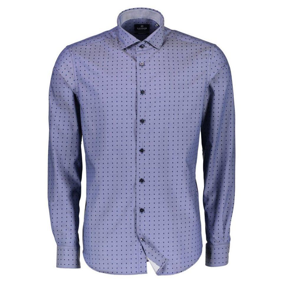 LERROS Premium Hemd mit Dot-Print in MIDNIGHT NAVY