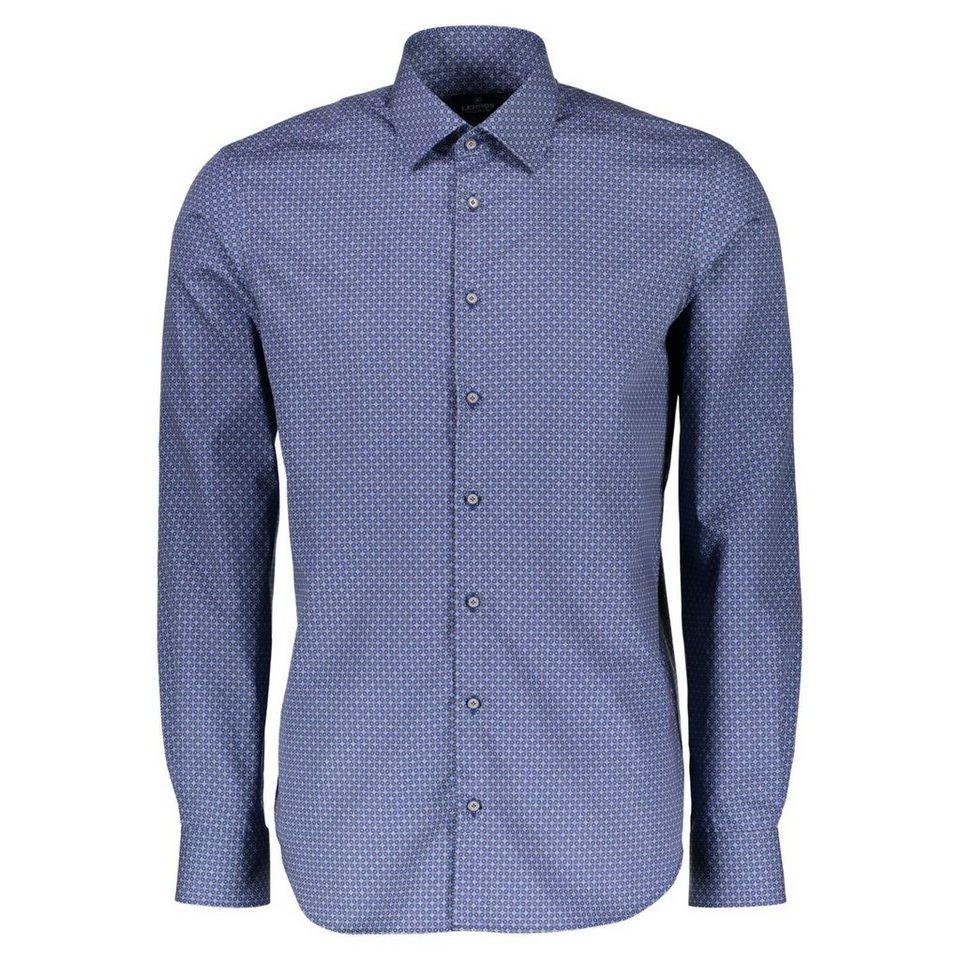 LERROS Premium Hemd mit All-Over-Print in MARRON