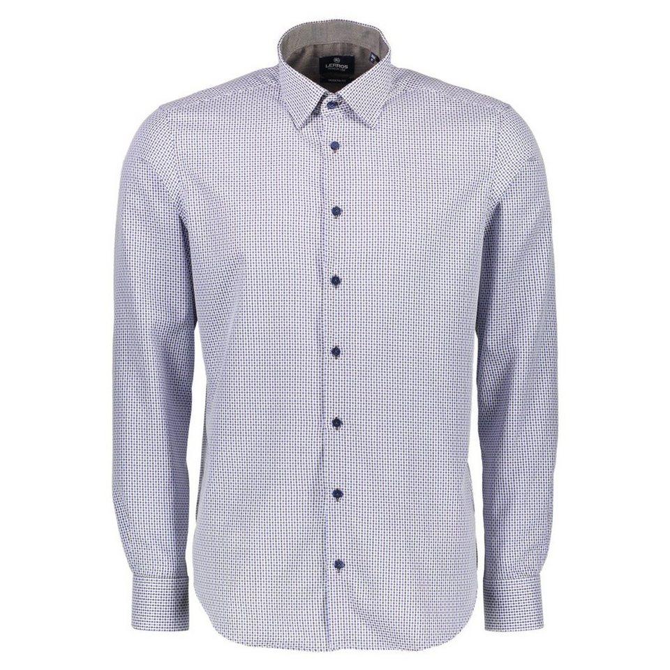 LERROS Premium Hemd mit Dobby-Struktur in BROWN MELANGE