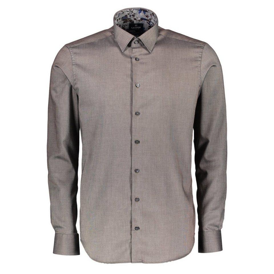 LERROS Premium Hemd in Piqué-Qualität in MARRON