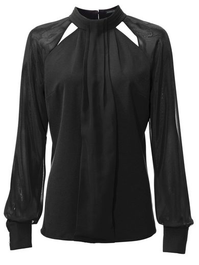 Patrician Dini By Heine Chiffonbluse Transparent