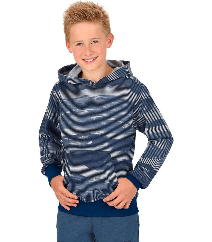 TRIGEMA Kapuzensweater in nightblue-melange