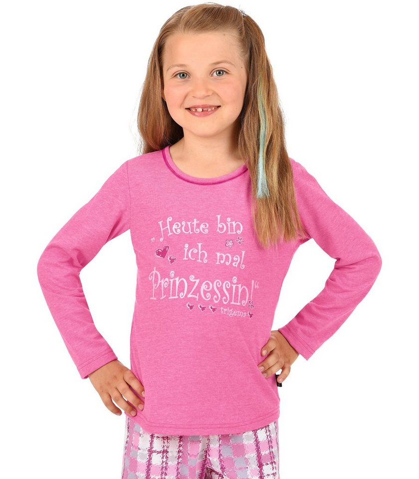 TRIGEMA Langarm-Shirt Prinzessin in hibiskus-melange