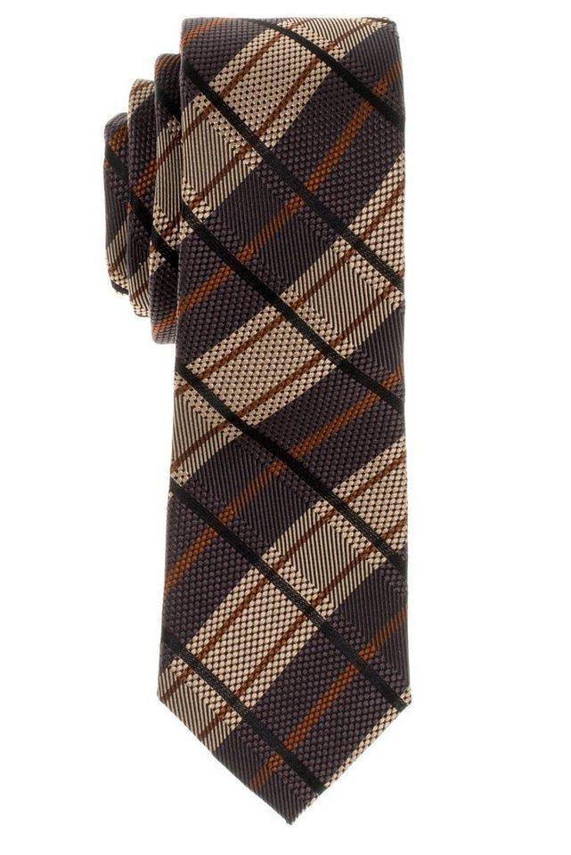 ETERNA Krawatte »schmal« in beigebraun