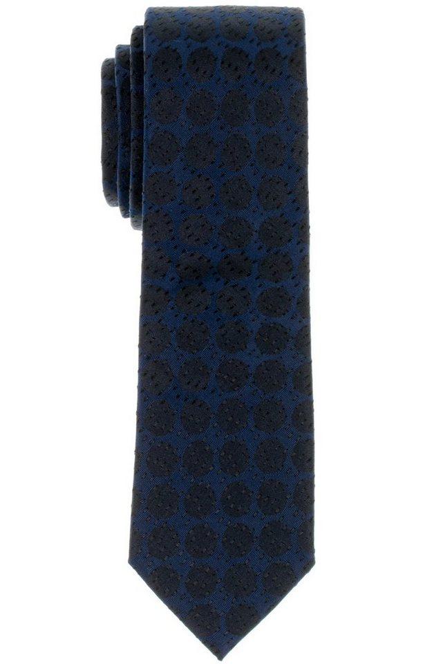 ETERNA Krawatte »schmal« in blau