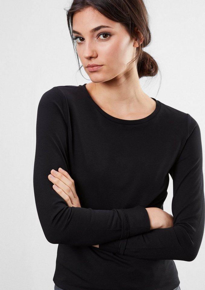 Q/S designed by Doppelpack B&W-Longsleeves in black/white