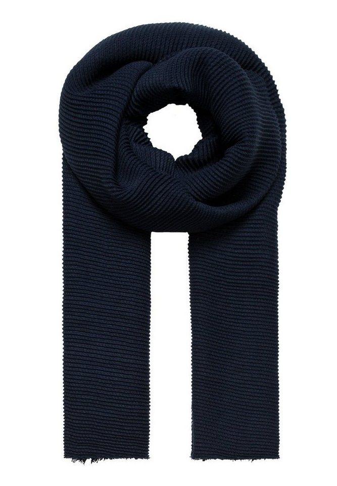 HALLHUBER Plissee-Schal in tintenblau