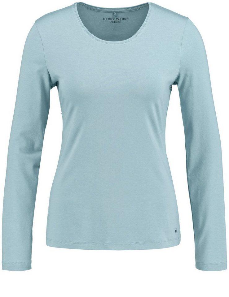 Gerry Weber T-Shirt 1/1 Arm »Langarmshirt mit Stretchkomfort« in Eis