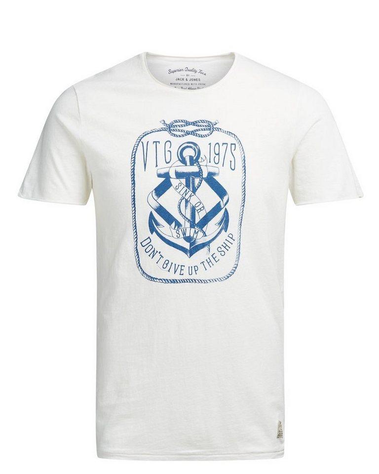 Jack & Jones Artwork- T-Shirt in Cloud Dancer