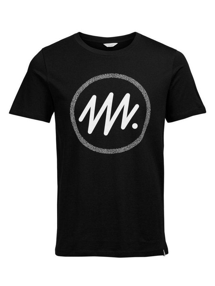 Jack & Jones Grafik- T-Shirt in Black