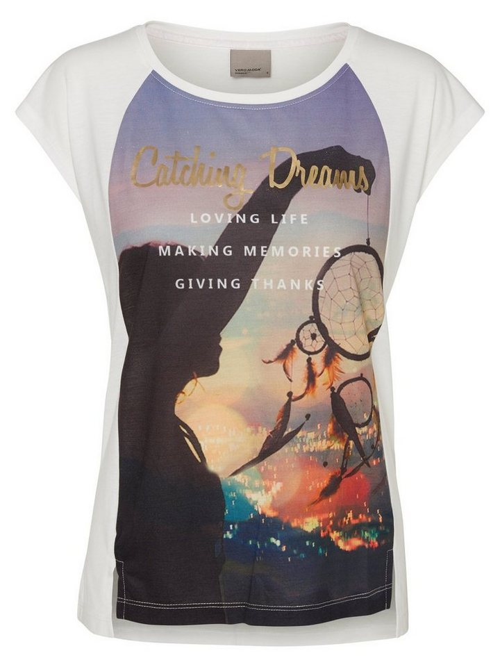 Vero Moda Bedrucktes T-Shirt in Snow White