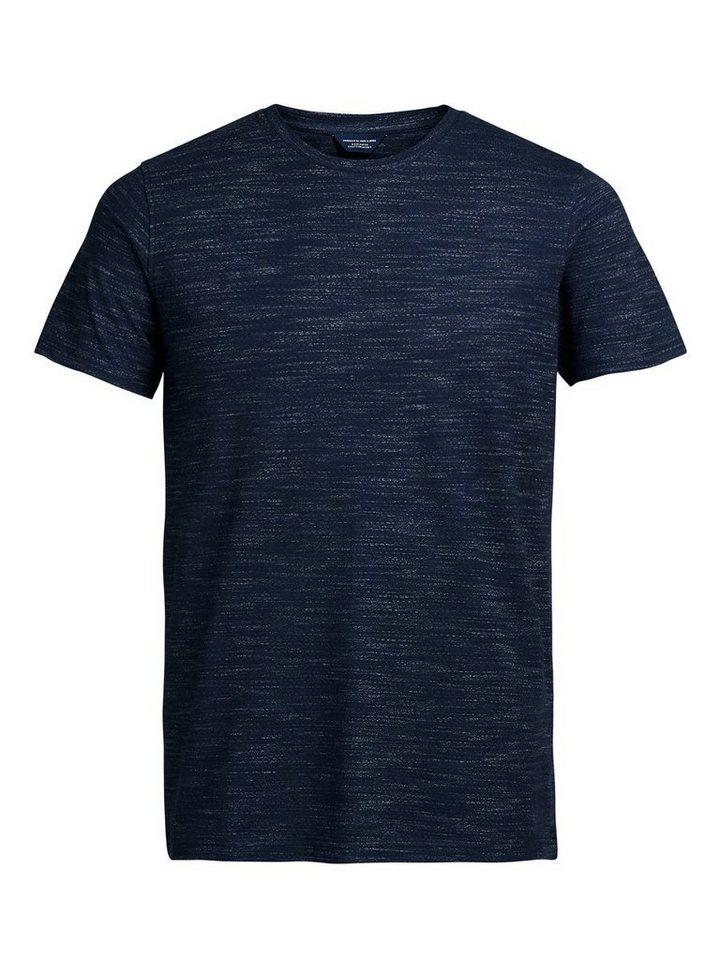 Jack & Jones Melange T-Shirt in Navy Blazer