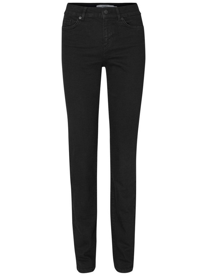 Vero Moda Fifteen NW Straight Fit Jeans in Black
