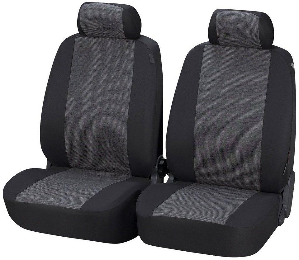 Set: Autositzbezug »Pineto« in schwarz/grau