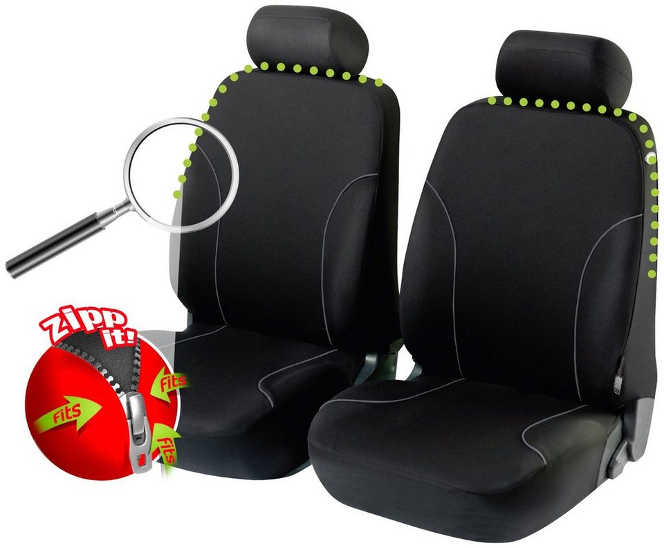 Set: Autositzbezug »Allessandro« in schwarz