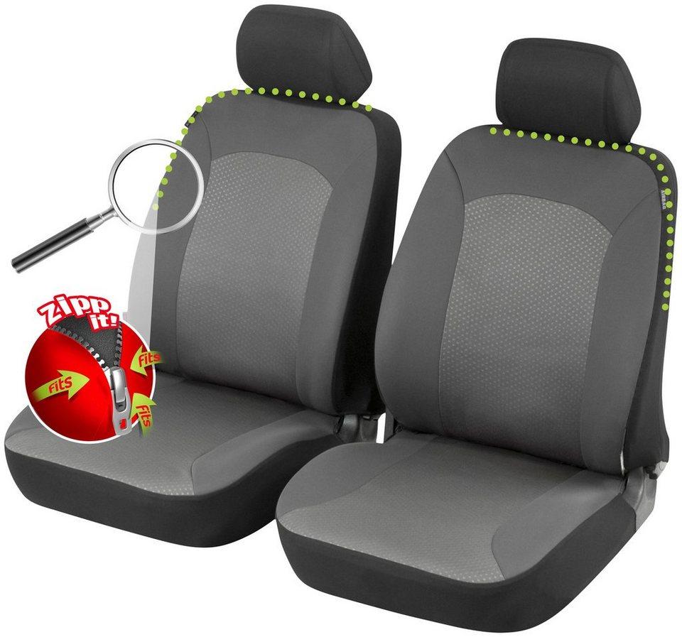 Set: Autositzbezug »Manhay « in schwarz