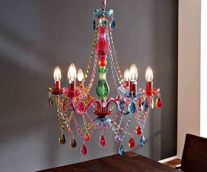 DELIFE Hängeleuchte »Gypsy«, Starlight-Multi-Rainbow Bunt 55 cm Hängeleuchte