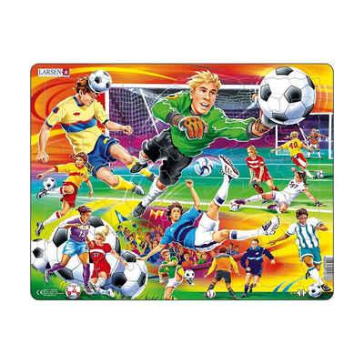 Larsen Puzzle »Rahmen-Puzzle, 65 Teile, 36x28 cm, Fußball«, Puzzleteile