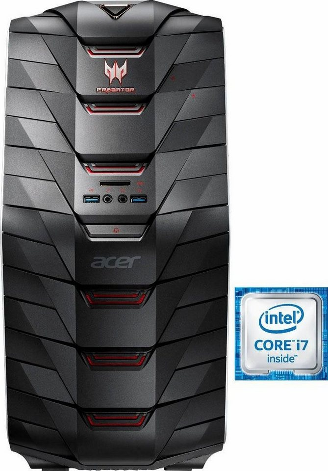 Acer Predator G6-710 Gaming-PC, Intel® Core™ i7, 16384 MB DDR4, 2256 GB Speicher