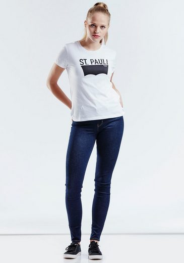 Levi's® T-Shirt Batwing Perfect Tee, Mit Logoprint