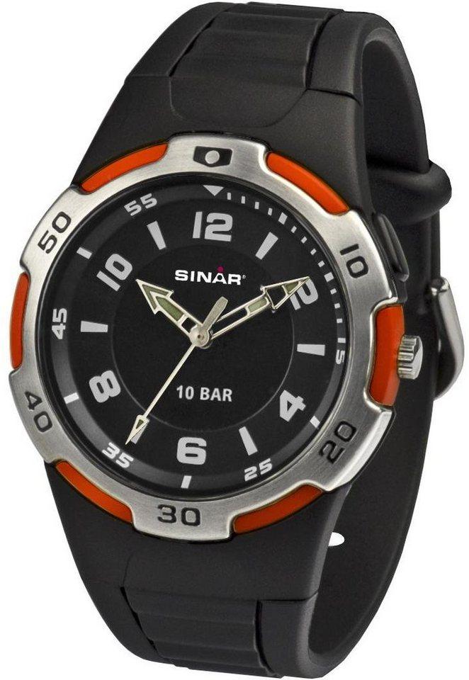 SINAR Quarzuhr »XB-21-4« in schwarz