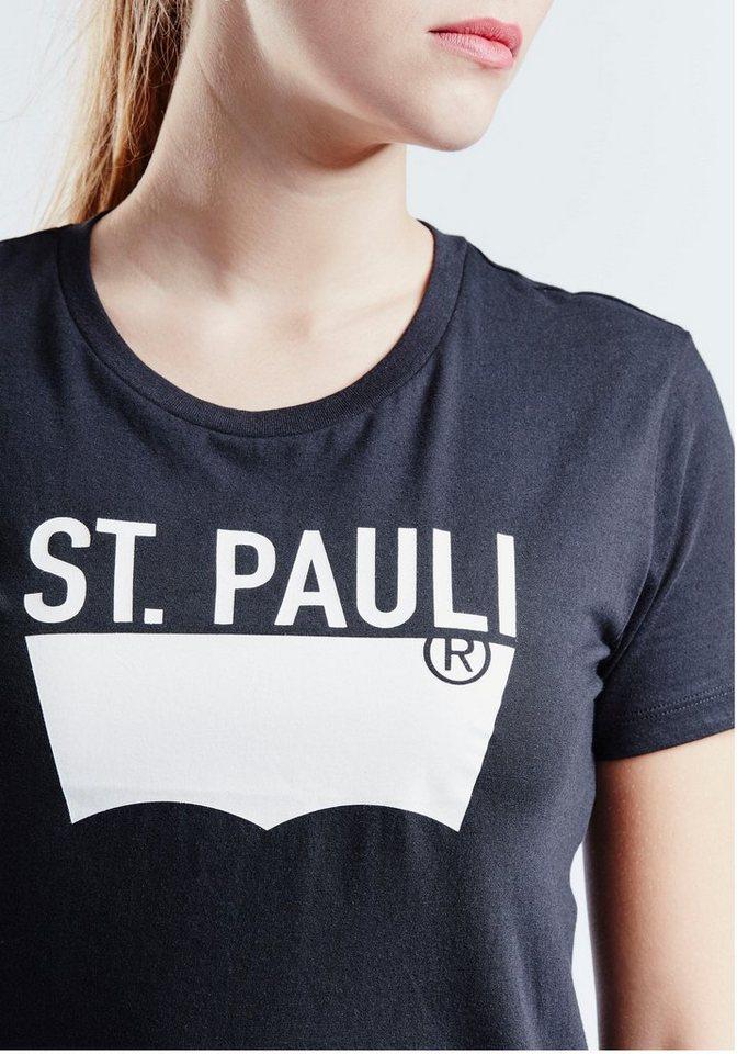Levi's® T-Shirt »Batwing Tee« Mit Logoprint in schwarz