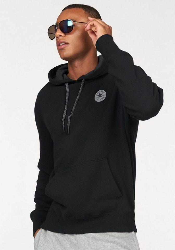 Converse Kapuzensweatshirt »CORE REFLECTIVE POPOVER HOODIE MEN« in schwarz