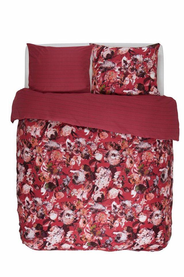 Wendebettwäsche, Essenza, »Sanya«, mit großen Blüten in rot
