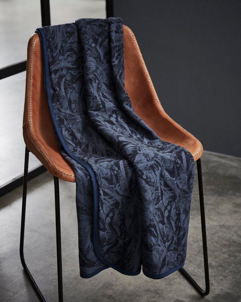 Wohndecke, Essenza, »Jaegers«, mit dezentem Muster in dunkelblau