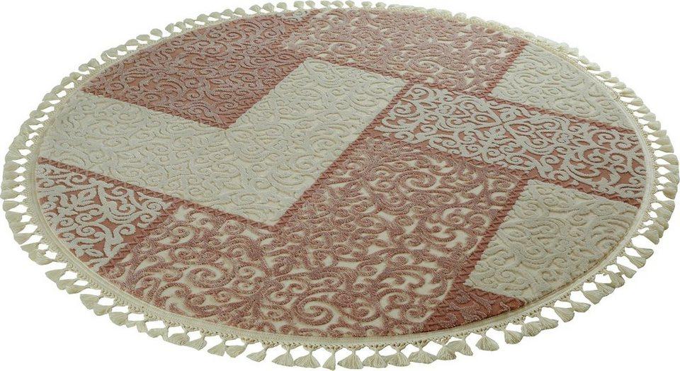 Orient-Teppich, rund, Sanat Hali, »Delüks 6891«, gewebt in beige