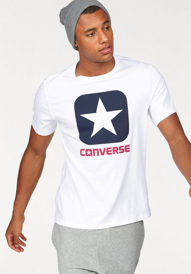 Converse T-Shirt »CORE BOXSTAR TEE MEN« in weiß