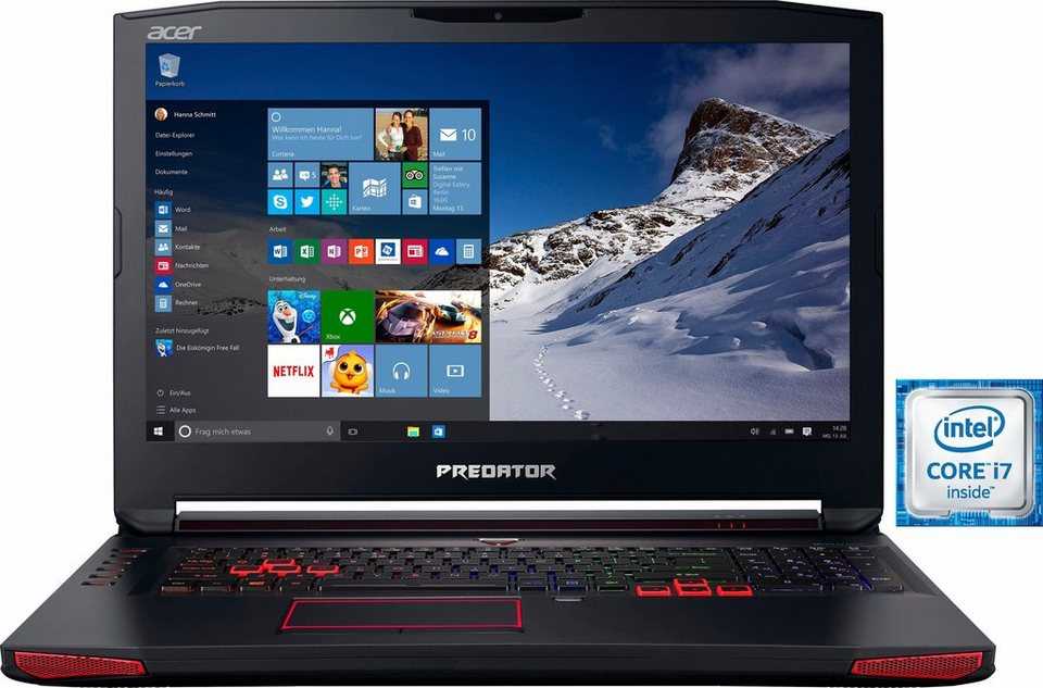 Acer Predator 17 (G9-793-77LN) Notebook, Intel® Core™ i7, 43,9 cm (17,3 Zoll), 1512 GB Speicher in schwarz