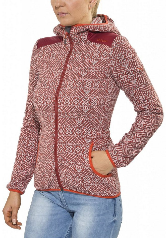 Salewa Outdoorjacke »Lifi 2 PL Full-Zip Hoody Women« in rot