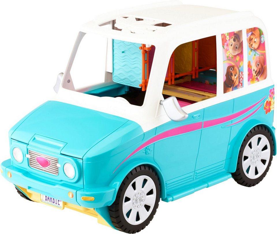 Mattel 2in1 Geländewagen und Hundespielplatz, »Barbie, Die große Hundesuche, Hunde-Mobil« in blau