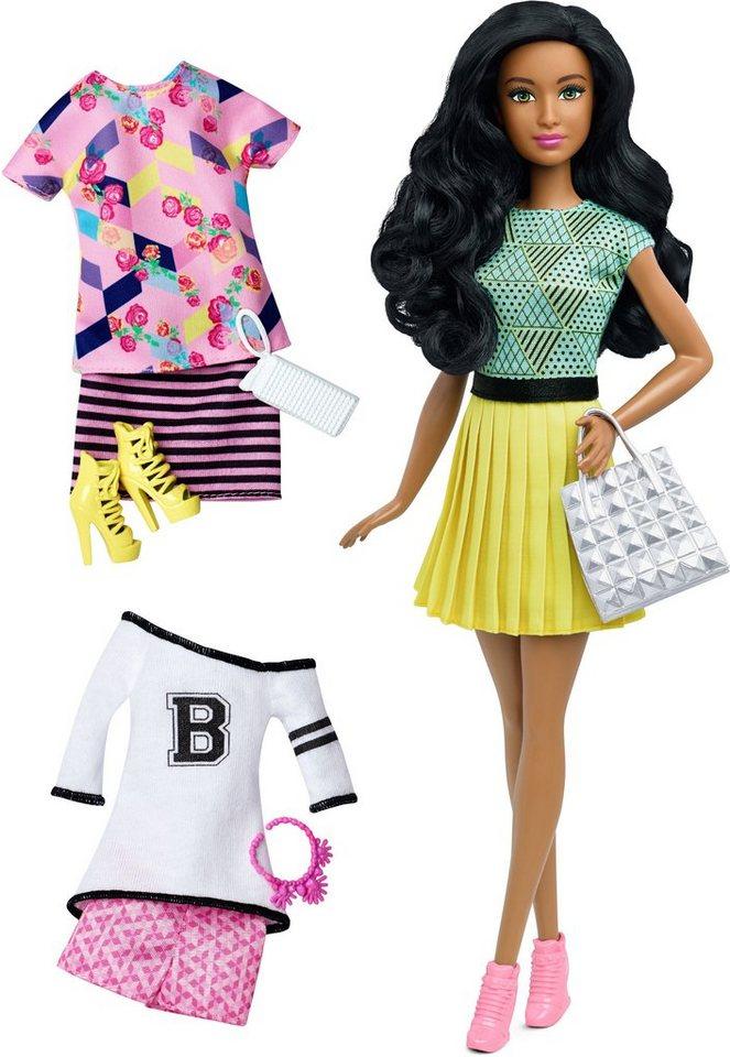 Mattel, Puppe, »Barbie Fashionistas, Style Puppe und Moden mit gelbem Faltenrock«