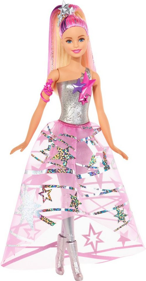 Mattel Puppe, »Sternenglitzerkleid Barbie« in rosa