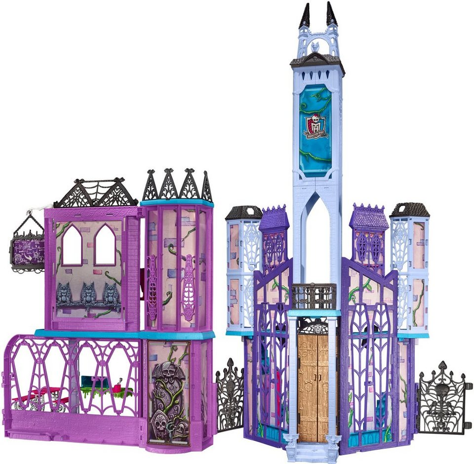 mattel puppenhaus mit zubeh r monster high mega monsterschule online kaufen otto. Black Bedroom Furniture Sets. Home Design Ideas