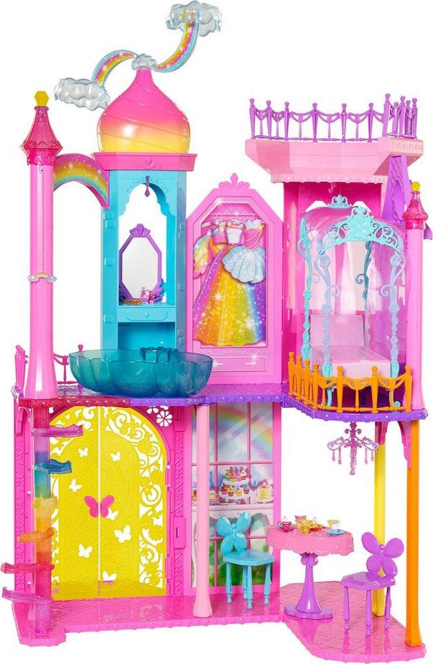 Mattel Puppenhaus mit Zubehör, »Barbie Regenbogen Schloss«