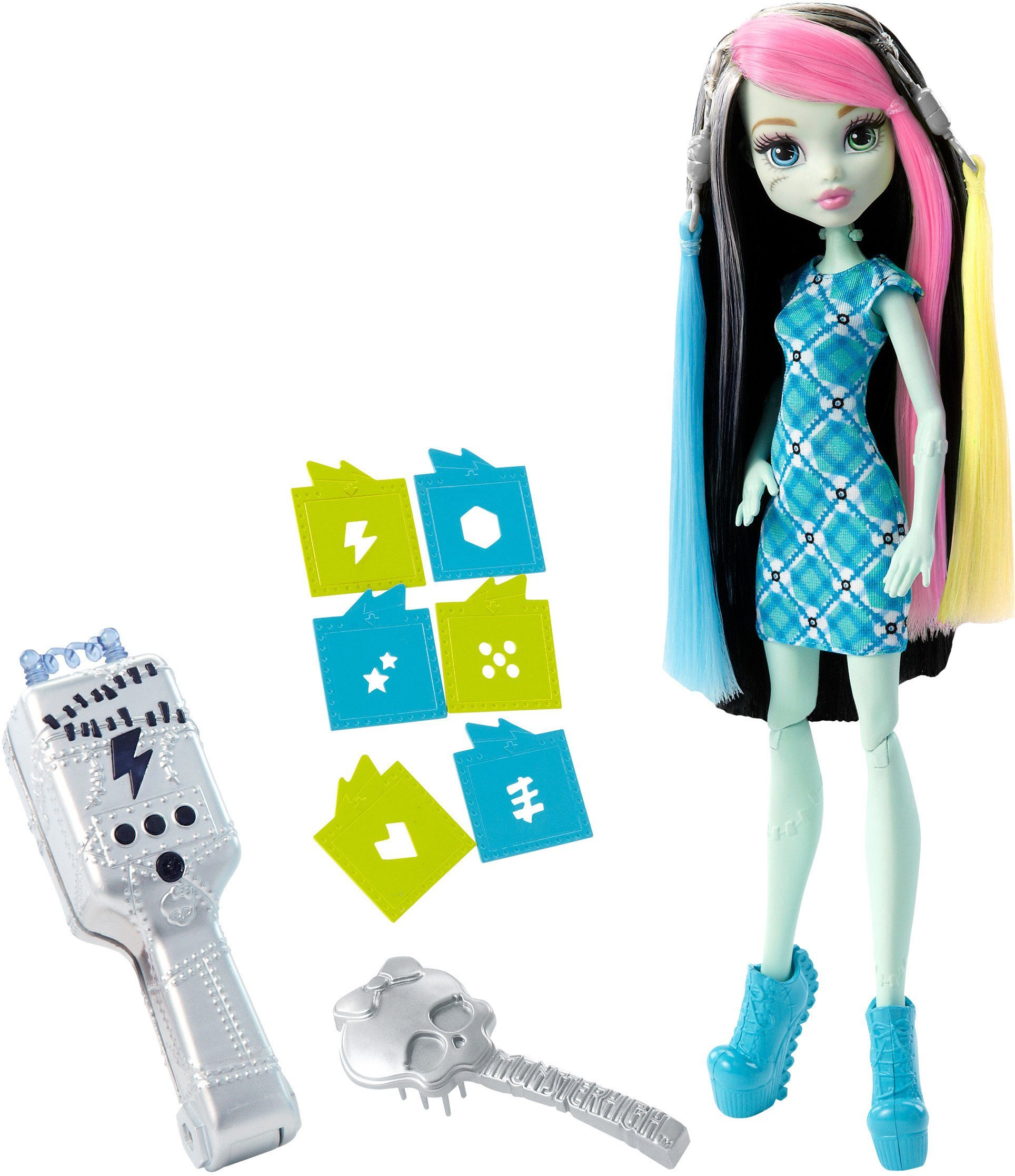 Mattel, Puppe, »Monster High, Blitzfrisur Frankie«