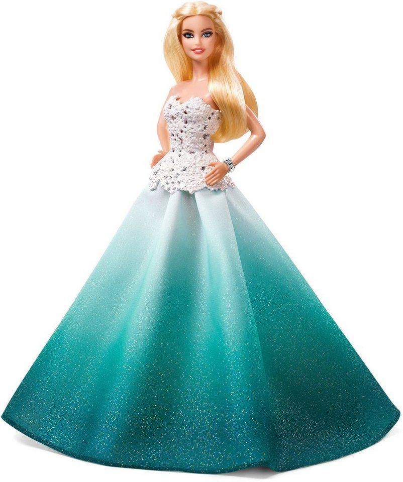 Mattel Puppe, »2016 Holiday Barbie Blond im grünen Kleid«