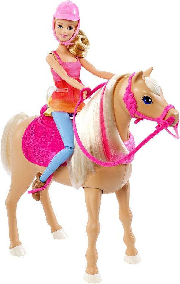 mattel puppe mit pferd und sound barbie die gro e hundesuche tanzspa pferd und puppe. Black Bedroom Furniture Sets. Home Design Ideas