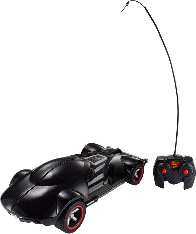 Mattel RC Fahrzeug mit Licht und Sound, »Hot Wheels®, Star Wars, Darth Vader RC Fahrzeug« in schwarz