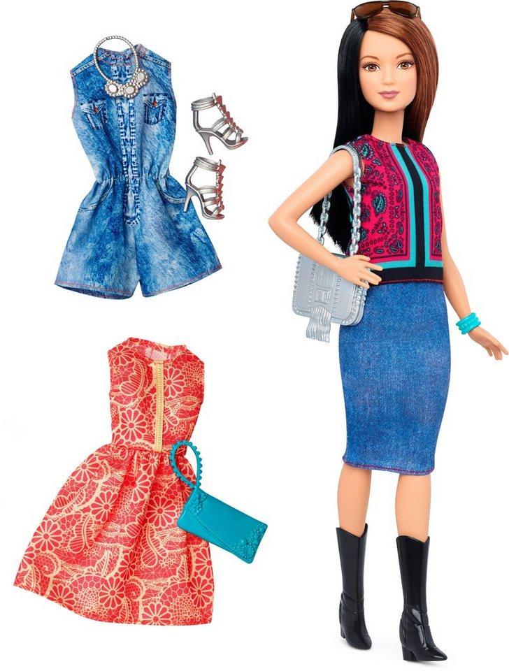 Mattel Puppe, »Barbie Fashionistas, Style Puppe und Moden mit Oberteil mit Paisley Muster«