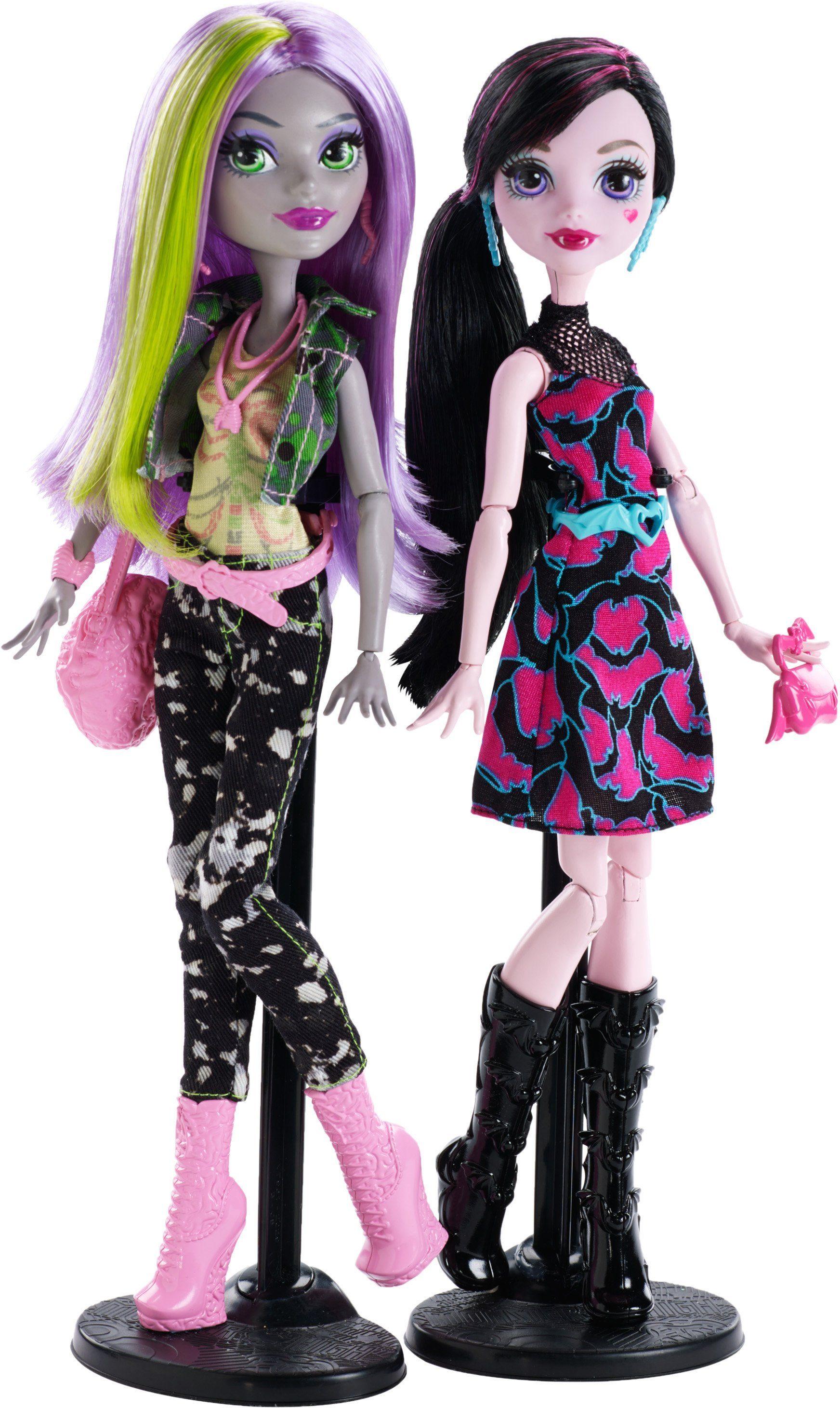 Mattel, Puppenset, »Monster High, Willkommen an der Monster High, Geschenkset, Draculaura + Moanica«
